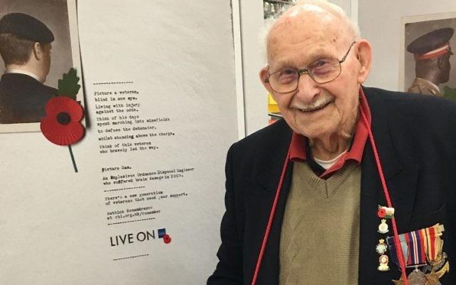 Ron Jones is marking his centenary.