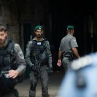 Israeli security forces in Jerusalem's Old City after a stabbing attack in which three people were injured and the assailant was shot by Israeli police, on April 1, 2017. Photo by: JINIPIX