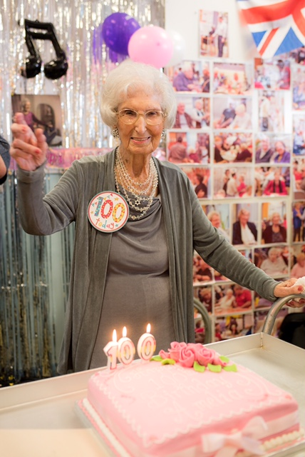 Millie's 100th Birthday at Jewish Care Stepney Community Centre. (Photo credit: Blake Ezra Photography)