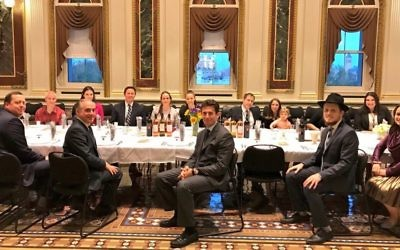 The seder taking place in the White House, without Donald Trump (Credit: Sean Spicer on Twitter).