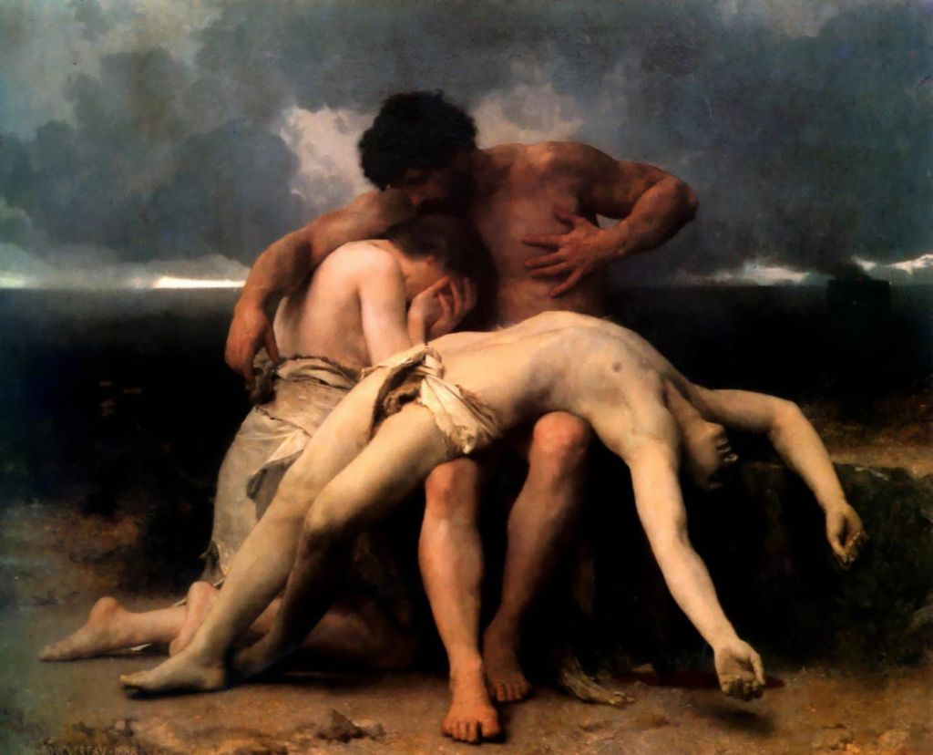 The First mourning (William-Adolphe Bouguereau, 1888)