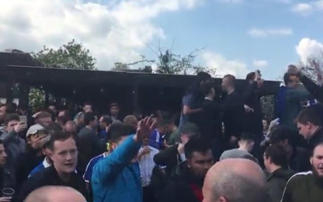 Chelsea fans were caught singing anti-Semitic abuse ahead of their FA Cup tie against Tottenham Hotspur