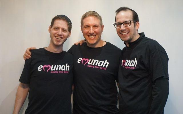 Emunah's Roey Freilich, David Bondt, Dovid Bitan