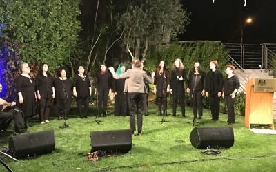 The Rana choir: Jewish and Arab women from Jaffa, who entertained guests at the residence of the British Ambassador.