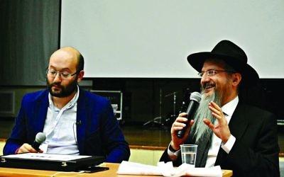 Chief Rabbi Berel Lazar at the conference