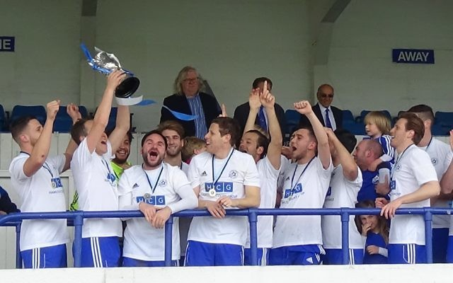 Lions celebrate winning the Cyril Anekstein Cup