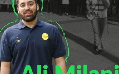 Ali Milani's campaign poster