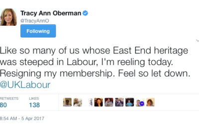Tracey Anne-Oberman tweet following the Ken Livingstone verdict