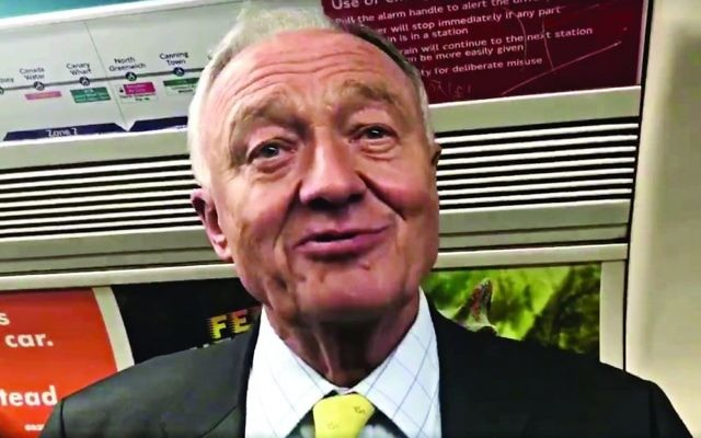 Ken on the Tube, being interviewed by Jewish News in 2017