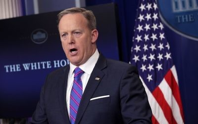 Former  White House Press Secretary Sean Spicer   (Photo by Alex Wong/Getty Images)