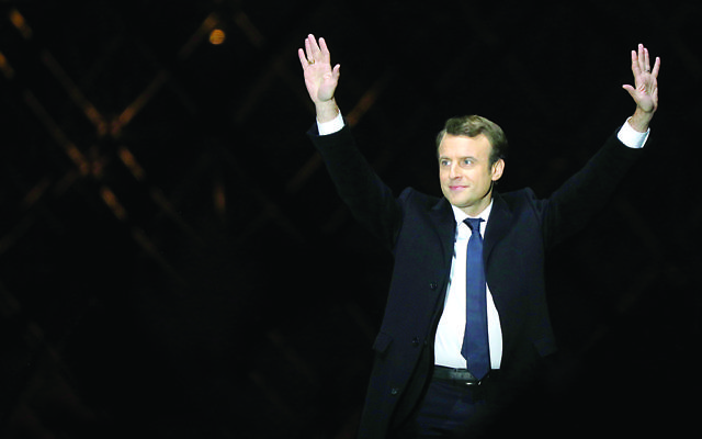 Emmanuel Macron after winning the French presidential election   Photo by ABACAPRESS.COM