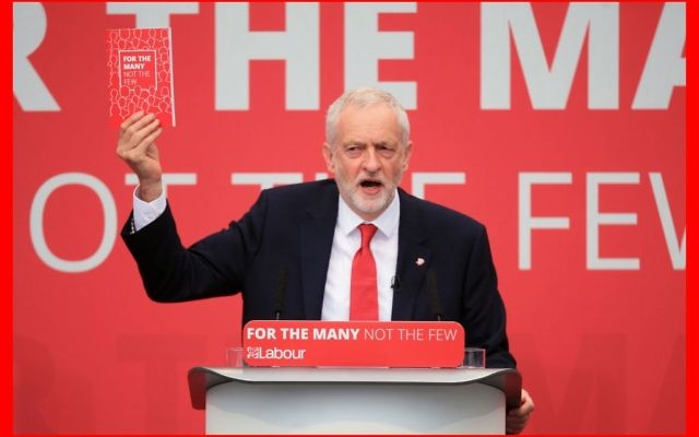 Jeremy Corbyn at the launch of the Labour Party manifesto   (Photo credit: Danny Lawson/PA Wire)