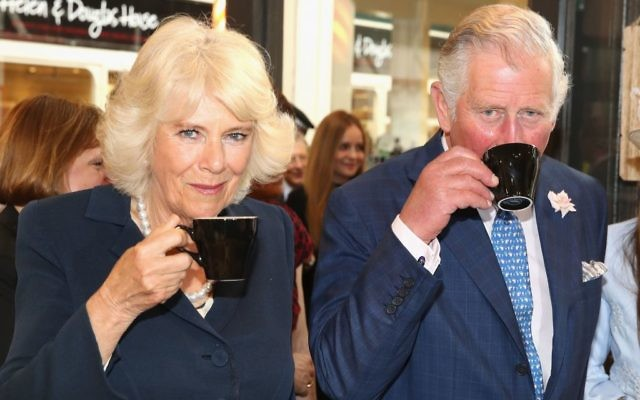 The Prince of Wales and Duchess of Cornwall visit the historic Covered Market to sample produce and meet independent vendors at Market Street in Oxford.   (Photo credit: Chris Jackson/PA Wire)