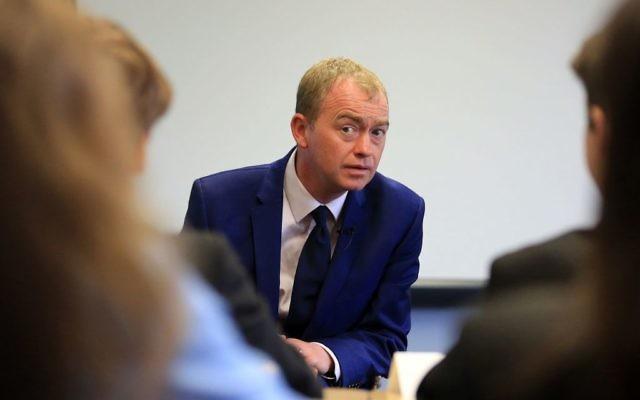 Liberal Democrats leader Tim Farron (Photo credit: Gareth Fuller/PA Wire)