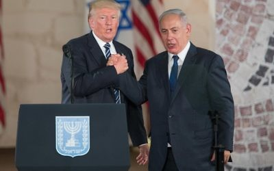 US president Donald Trump and Israeli Prime Minister Benjamin Netanyahu   Photo by: JINIPIX