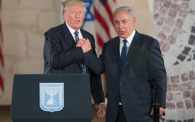 US president Donald Trump and Israeli Prime Minister Benjamin Netanyahu   Photo by: JINIPIX