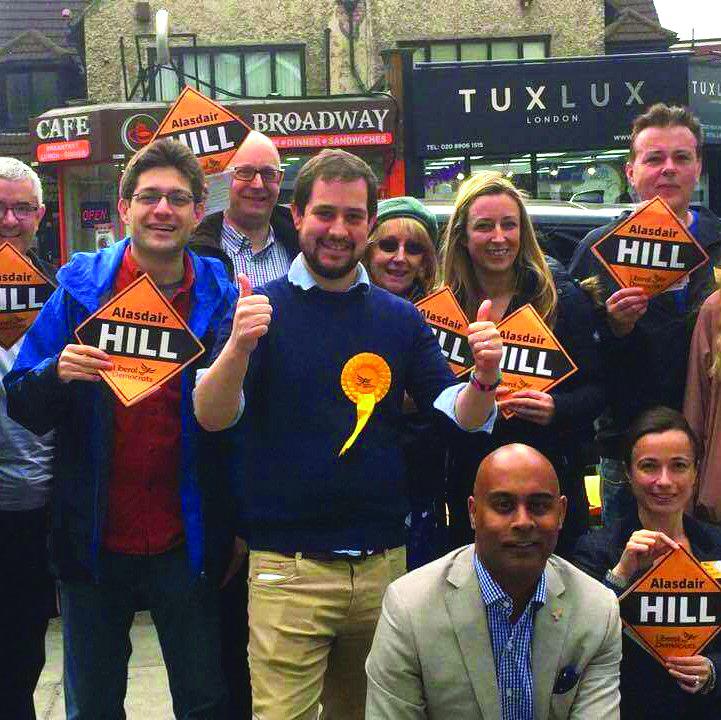Alasdair Hill on the campaign trail
