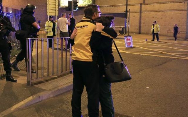 Armed police at Manchester Arena.