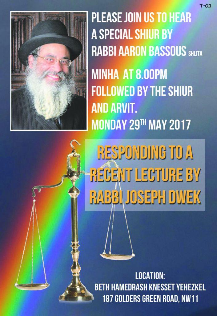 Poster promoting Rabbi Bassous' response