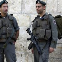 Israeli officers in the Old City of Jerusalem