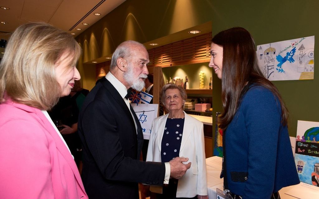 Prince Michael meeting Veronika Morozova with Pat Moore-Searson and Elise Moore-Searson looking on  Photo credit: Micha Treiner.