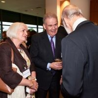 Prince Michael and Rt.Hon Julian Lewis and his partner Fiona Vandersluys