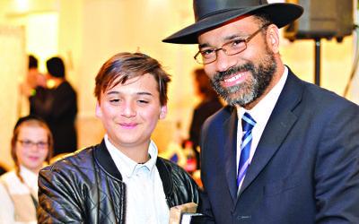 Nathan Cohen with Rabbi Yochanan Peirera