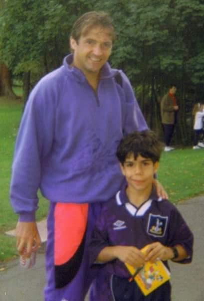 "Adam Gary Mabbut at the training ground in 1994"""