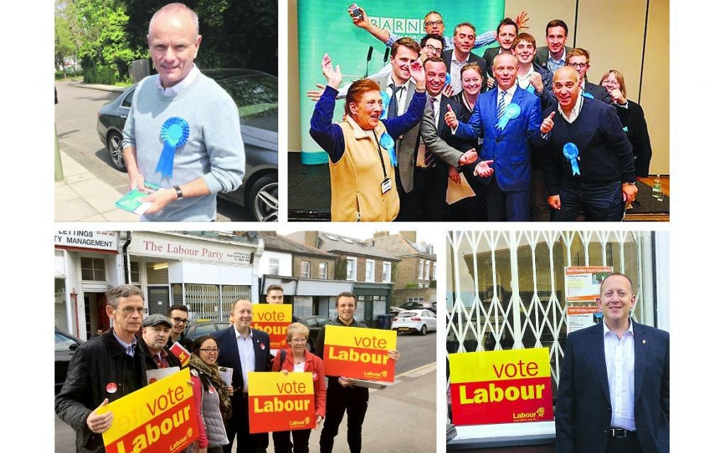 Finchley and Golders Green is being contested by Tory Mike Freer (top) and Labour's Jeremy Newmark (bottom)