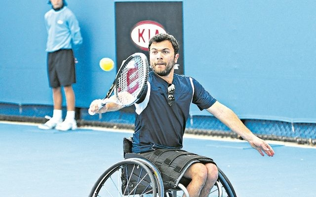Noam Gershony won all his singles matches at the tournament in Sardinia. Photo: Peter Haskin
