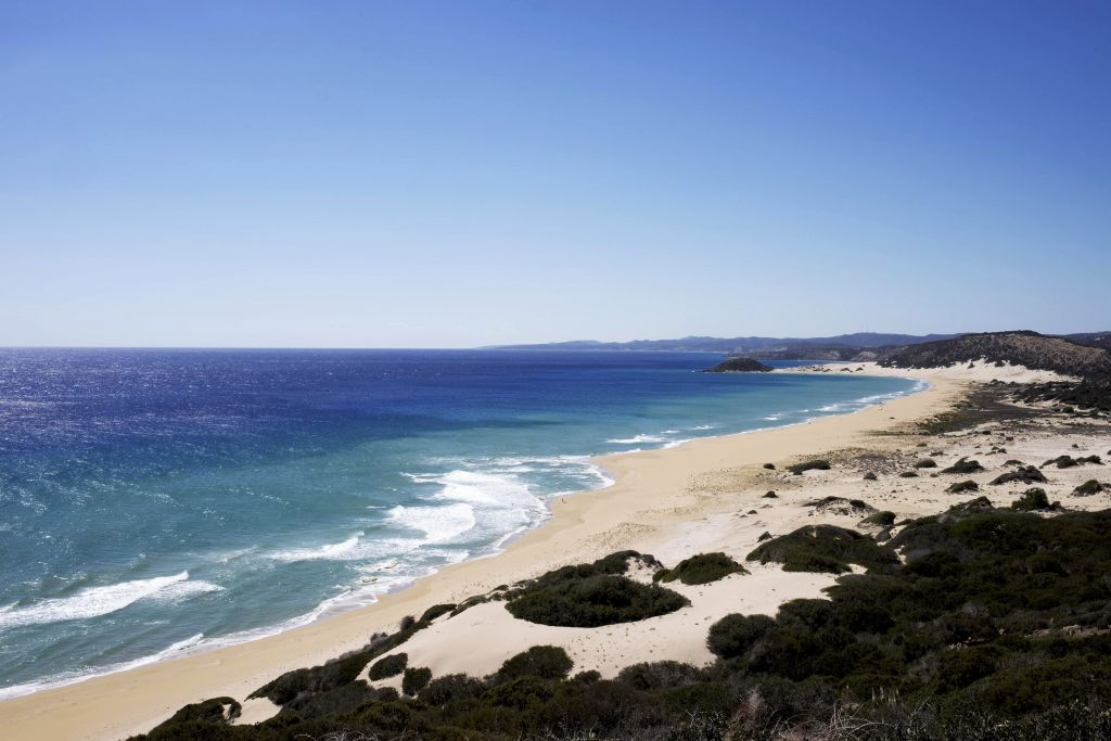 The unspoilt beaches are a by-product of the invasion