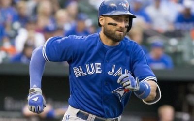 Kevin Pillar in action for the Toronto Blue Jays.  Picture: Wikimedia.