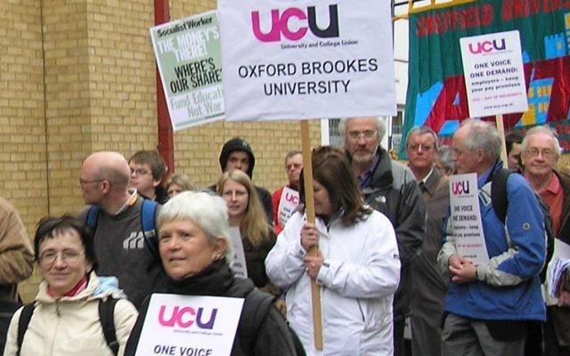 UCU members taking industrial action in 2006