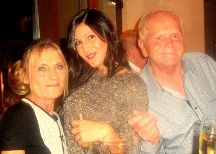 Michaela Silverstein centre with grandma Judy