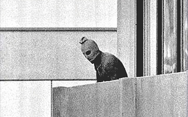One of the terrorists during the the Munich massacre