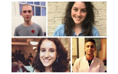 Top: Josh Holt, Grace Diamond, and bottom: Kathryn Rose, Dan Rafaeli, are four of the new UJS recruits
