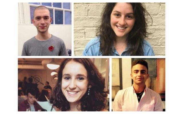 Top: Josh Holt, Grace Diamond, and bottom: Kathryn Rose, Dan Rafaeli, are four of the new UJS recruits