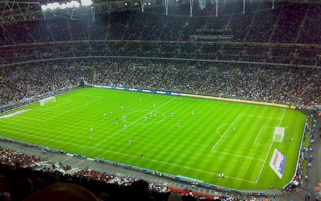 Wembley Stadium during a friendly match between England and Germany