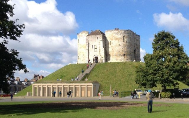 Artist impression issued by English Heritage of the proposed visitor's centre at Clifford's Tower, in York as campaigners have lost their High Court challenge against a plan for the visitor centre at one of the best known historical monuments in northern England.   (Photo credit should read: English Heritage/PA Wire)