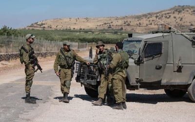 Israeli army soldiers in the Golan Heights (June 2017)   Photo by: Ayal Margolin- JINIPIX