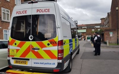"Man at polling station shouting ""F***ing Jews, kill all the Jews, what are you doing here"", as  Shomrim alerted Hackney police, who arrested a suspect  credit: @Shomrim"
