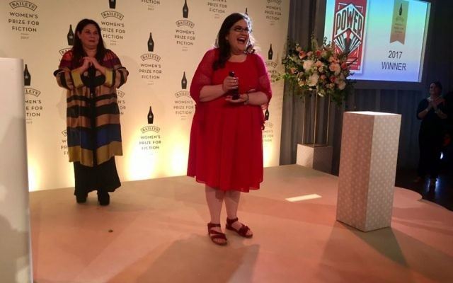 Naomi Alderman accepting the award