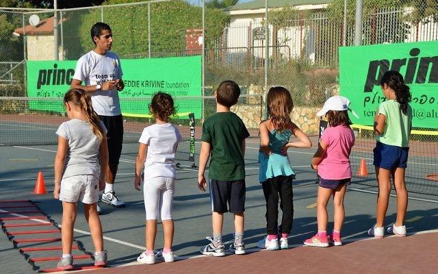 The Freddie Krivine Foundation teaches tennis to Jewish and Arab children in Israel
