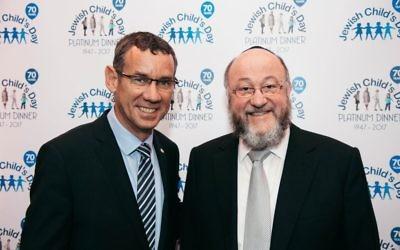 Ambassador Mark Regev and Chief Rabbi Ephraim Mirvis
