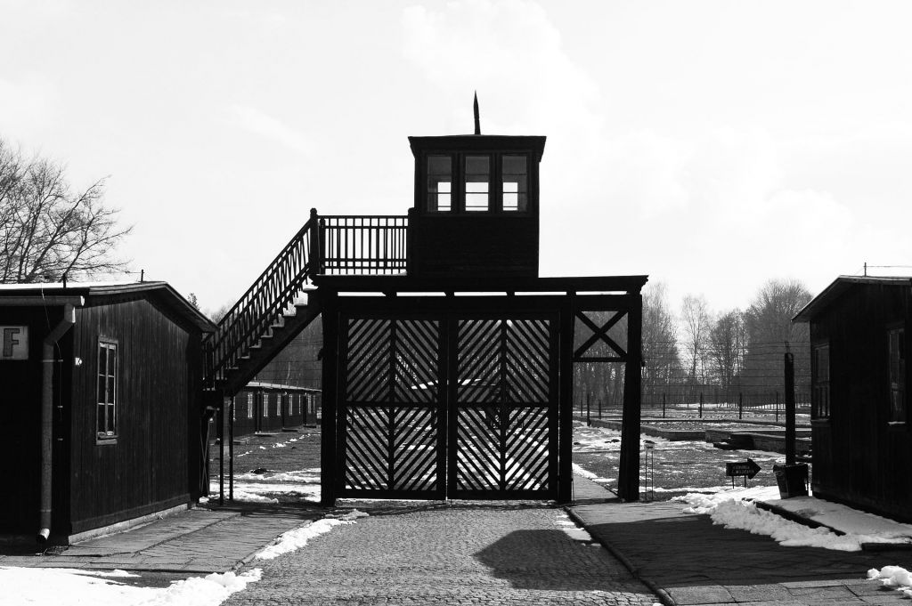 Entrance to the Stuffhof concentration camp