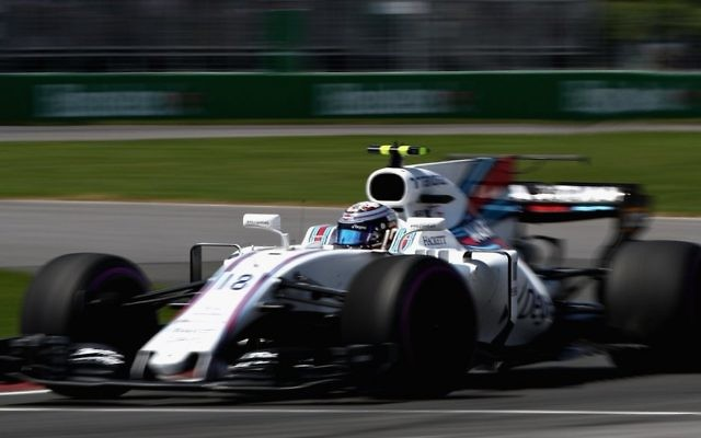 Stroll finished Sunday's Azerbaijan Grand Prix in third place.