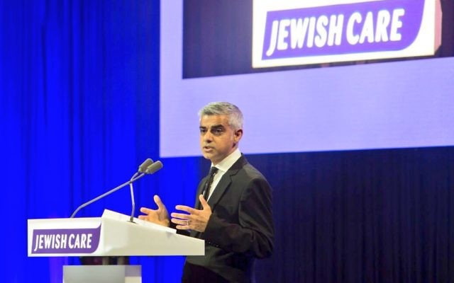 Sadiq Khan speaking at Jewish Care's annual dinner