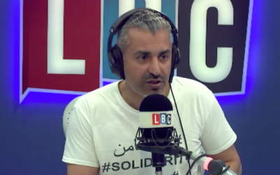 Maajid Nawaz speaking on his LBC show