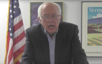 Bernie Sanders' addressing the left wing Israeli party