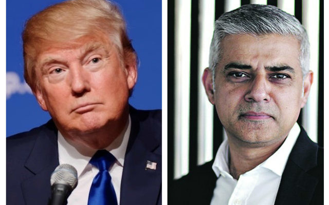 Donald Trump (left) was critical of London Mayor Sadiq Khan